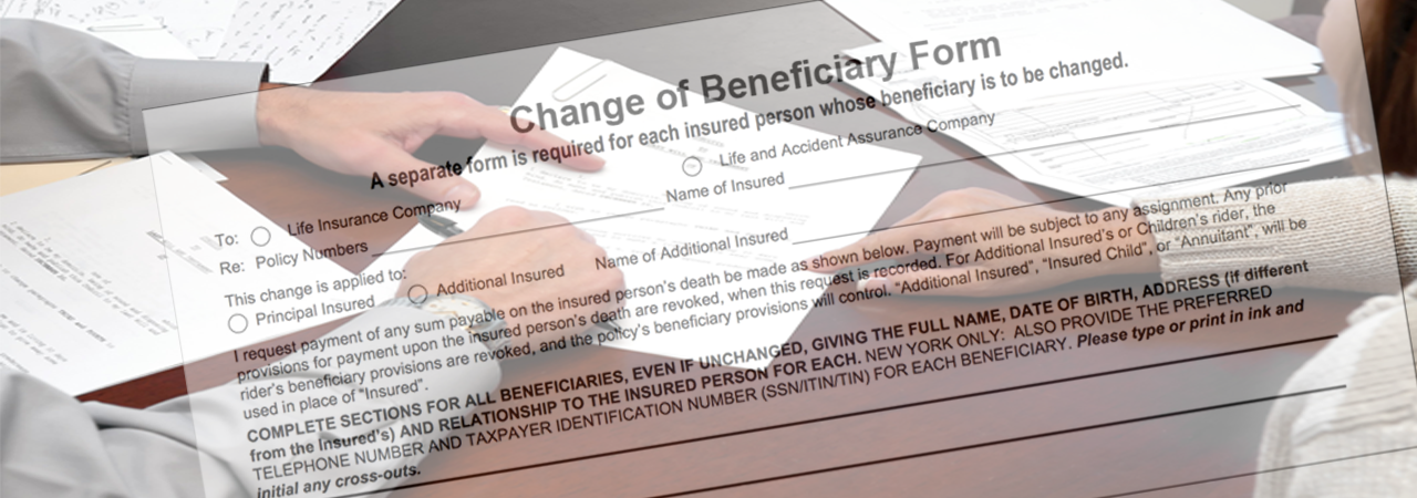 change life insurance beneficiary
